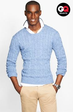 "Polo Ralph Lauren Cable Knit Cashmere Sweater | Nordstrom - ""Intricate cable-knitting defines a lean, crewneck sweater comprised of plush, ultrasoft cashmere.""  Color: New Litchfield Blue"