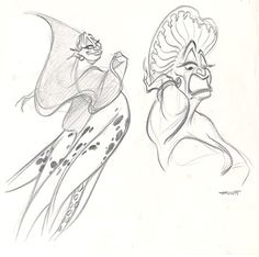 Disney | The Little Mermaid | Concept Art | Character Design - Ursula | Source: The Little Mermaid special edition DVD