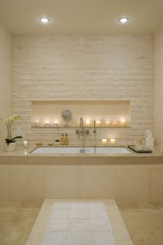 Bathroom-love the candle area....so relaxing