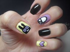 geek bunny, /easter nails!