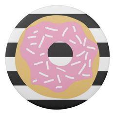 Pink Donut Party Eraser - baby birthday sweet gift idea special customize personalize