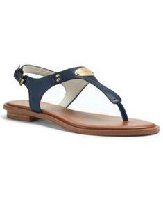 MICHAEL Michael Kors MK Plate Flat Thong Sandals | macys.com
