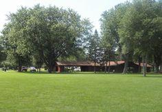 Centennial Park shelterhouse. playground and open area on North side of Lake Okabena in Worthington, MN