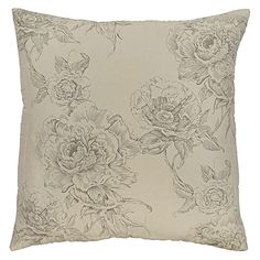 Classicism and delicacy with cottony comfort come together in the feminine and fancifully floral Monet Print Cushion from DG37.