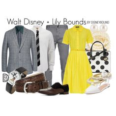 Walt and Lilian Disney inspire these classic outfits. | fashion | outfits | disneyland outfits | disney world outfits | disney fashion outfits | disneybound | disneybound outfits | disney outfits | disney outfit ideas |
