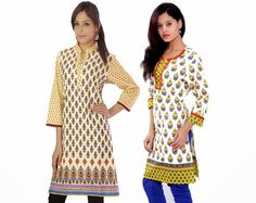 Buyclues Ethnic Pure Cotton Regular Wear Printed Kurti 2 Pic Combo Bce2029 Kurtas and Kurtis For Women on Shimply.com