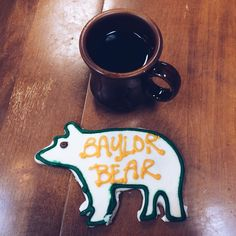 Baylor Bear cookie from East Village Bakery. Always a sweet choice. #SicEm