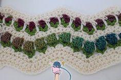 Crochet Flower Garden Chevron Ripple