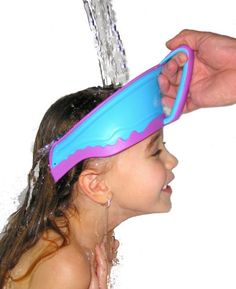 Wish I'd have had this when mine were little!   Lil Rinser Splashguard in Blue and Pink:Amazon:Baby