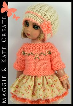 "OOAK Spring #2 Outfit Tonner Patsy 10"" Ann Estelle Doll by Maggie & Kate Create"