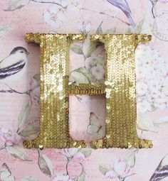 Sequin Letters - Gold