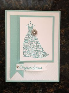 stampin up bridal shower card