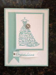 Stampin up bridal shower card.