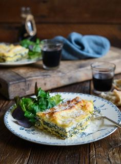 Spinach, Feta and Ricotta Lasagne. I absolutely love this vegetarian lasagne, which somehow manages to be creamy, light, fresh and comforting – my perfect Sunday night dinner!