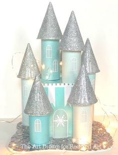 Make this gorgeous recycled castle from boxes and toilet paper rolls. Fun recycled winter craft for kids. The post Toilet Paper Roll Ice Castle – Red Ted Art appeared first on Crafts. Winter Crafts For Kids, Crafts For Girls, Easy Crafts For Kids, Diy For Kids, Fun Crafts, Diy And Crafts, Recycling For Kids, Tree Crafts, Spring Crafts