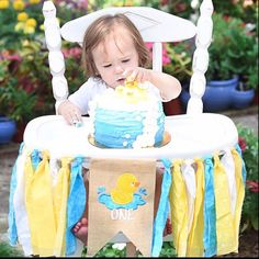 Items similar to Duck Rubber Ducky first birthday highchair high chair banner garland on Etsy First Birthday Banners, Baby Boy 1st Birthday, First Birthday Parties, Birthday Ideas, Leo Birthday, Birthday Nails, Rubber Duck Birthday, Rubber Ducky Party, Best Baby High Chair