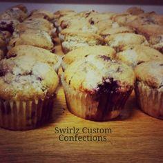 Blackberry muffins www.swirlzcustomconfections.com