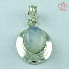 Exclusive _ Sterling Silver Pendant Rainbow Moon Stone Jewelry S.4 cm P2488 #SilvexImagesIndiaPvtLtd #Pendant