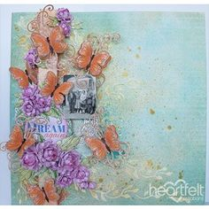 Dream Again - #HeartfeltCreations #papercraft #layout #scrapbooking #butterflies #memorymaking