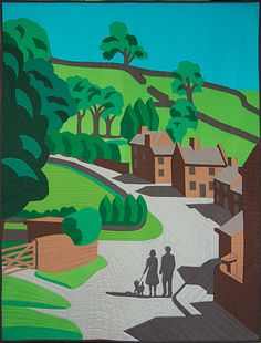 Heart of the Peak by Greta Fitchett   Quilt art (UK)