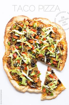Taco Pizza | A finger-licking mash-up of two classics. Grab the 30 minute recipe!