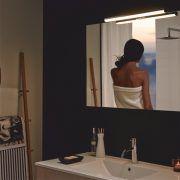 Kromattu 12W ledvalaisin Ruth Bi-Led on uuden teknologian IP44 luokiteltu kylpyhuonevalaisin, jonka valon väri voidaan säätää halutuksi asteikolla 2900-6500K ja valoteho tarvittaessa max. 1200lm.  #biled #ledvalaisin #gripshop #kylpyhuonevalaisin #kylpyhuone #focco #foccobygrip #uutuus Led, Bathroom Lighting, Mirror, Home Decor, Bathroom Light Fittings, Bathroom Vanity Lighting, Decoration Home, Room Decor, Mirrors
