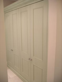 made to measure fitted linen cupboard with panel doors For airing cupboard Bedroom Wardrobe, Wardrobe Doors, Built In Wardrobe, Home Bedroom, Bedroom Furniture, Kitchen Furniture, Double Wardrobe, Bedrooms, Airing Cupboard