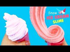 Soft Fluffy Slime Tutorial ! Snow Ice Cream Slime DIY - KidsMon - YouTube