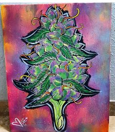 Cannabis weed marijuana art drawing painting by – Drawings – Home crafts Hippie Painting, Trippy Painting, Trippy Drawings, Art Drawings, Disney Drawings, Dope Kunst, Arte Dope, Kunst Inspo, Marijuana Art