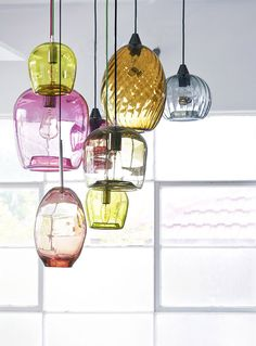 Assorted handblown glass lighting - Mark Douglass