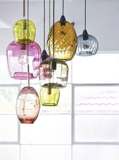 Assorted handblown glass lighting - Mark Douglass