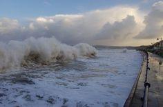 Stormy seas at Filey