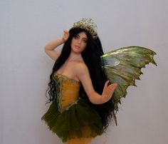 Jennifer is a one of a kind Ballerina Fairy by Phyllis Morrow of Pgm Sculpting