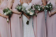 Bridesmaids Bouquets / Anna & Brian / Wave Hill / Chellise Michael