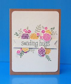 Lawn Fawn - Penelope's Blossoms, So Much to Say _ card by Lynnette for Lawn Fawn Design Team