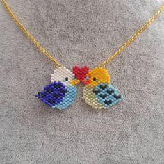 #handmade #beads #brickstitch #miyuki #miyukidelica #birds #love #heart @senayverimlipektas Eline Sağlık