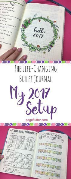 The life-changing bullet journal pages that help me start the New Year the right way, organized with a plan!