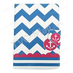 Chevron Stripes and Anchor Universal Flip Leather Shell for ASUS Google Nexus 7 / Samsung Galaxy Tab 4 7.0 T230, Size: 20 x 13cm