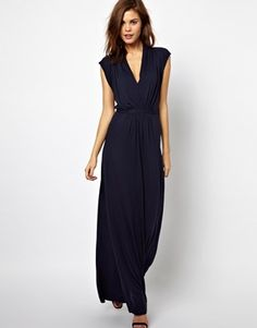 French Connection Meadow Jersey Maxi Dress with Tie Waist