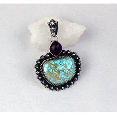 Darrell Cadman Sterling Silver Pendant.   #nativeamericanjewelry    #turquoisejewelry http://www.leotasindianart.com/
