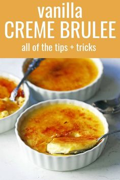 Howto make the best creme brulee. A creamy, silky vanilla c. Howto make the best creme brulee. A creamy, silky vanilla custard topped with crisp sugar Best Dessert Recipes, Fun Desserts, Delicious Desserts, Yummy Food, Custard Recipes, Baking Recipes, Best Creme Brulee Recipe, Cream Burlee Recipe, Dessert Mousse
