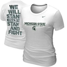 #MSU #VictoryforMSU! >>> Nike Michigan State Spartans Ladies 2012 Stand and Fight Student Body T-Shirt - White