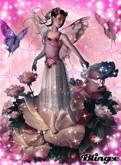 Rose fairy blingee