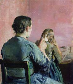 Christian Krohg 1852-1925: Plaiting Hair