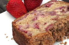 Strawberry Bread like I made in Foods I class Ingredients 2 cups fresh strawberries 3 cups all-purpose flour 2 cups white sugar 1 tablespoon ground cinnamon 1 teaspoon salt 1 teaspoon baking soda 1 cups vegetable oil 4 eggs, beaten 1 cups chopped pecans Cupcakes, Cupcake Cakes, Strawberry Bread Recipes, Fruit Recipes, Delicious Desserts, Yummy Food, Sweet Bread, Sweet Tooth, Favorite Recipes