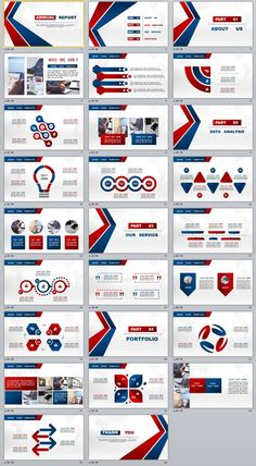 26+ Business report chart PowerPoint Template download