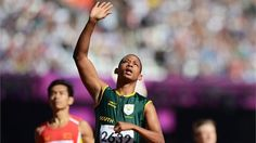 Dyan Buis of South Africa celebrates Great Britain, South Africa, Athlete, London, Celebrities, Sports, Hs Sports, Celebs, Sport