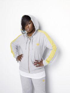 Missy Elliot in Adidas Missy Elliot, Fashion Leaders, Women In History, Celebs, Celebrities, Famous Women, Hooded Jacket, Hip Hop, Rain Jacket
