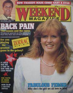 Weekend Magazine - Sarah Ferguson - 21st Oct. 1986