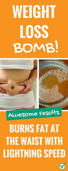 Weight loss bomb that burns fat at the waist with lightning speed!